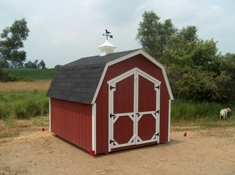 8x10 Gambrel Shed by BC Barns *Options: 2 Color Paint, Cupola