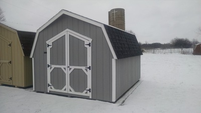 10x12 Gambrel Shed by BC Barns *Options: 2 Color Paint