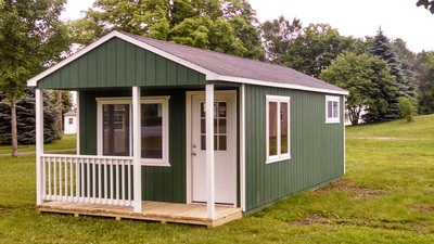 12x28 Portable Cabin by BC Barns *options: 2 color paint, custom windows