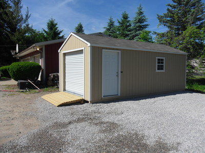 12x24 Portable Garage by BC Barns *Options: Beige & White Paint